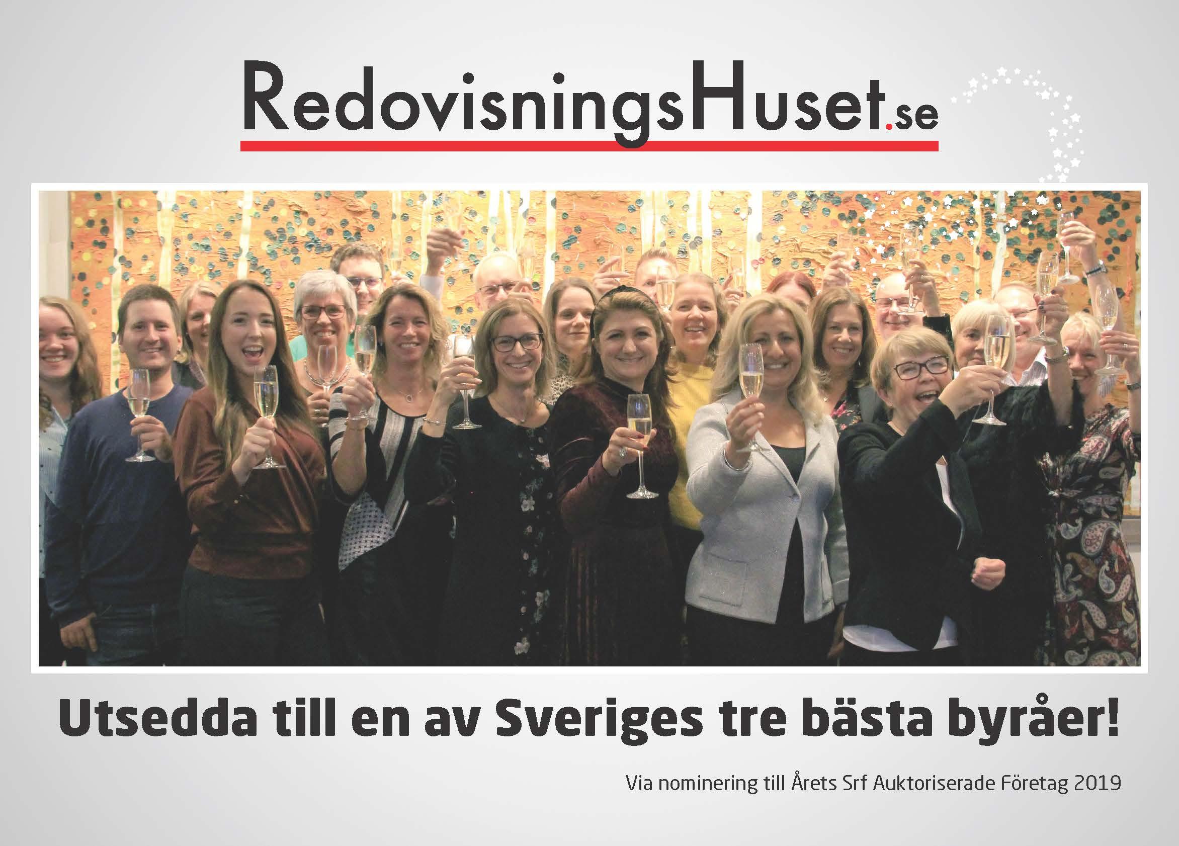 RedovisningsHuset i Södertälje är en av Sveriges 3 bästa byråer 2019 enligt Srf!