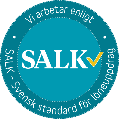 Vi arbetar enligt SALK - Svensk standard för löneuppdrag