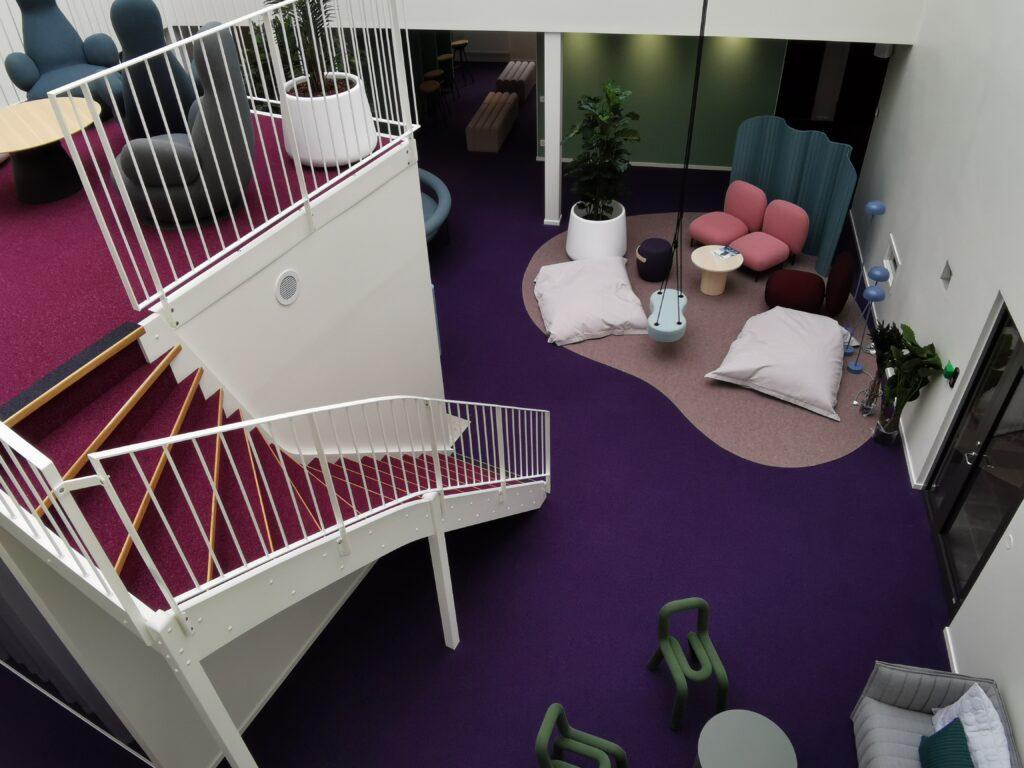 Fortnox huvudkontor i Växjö, interiör
